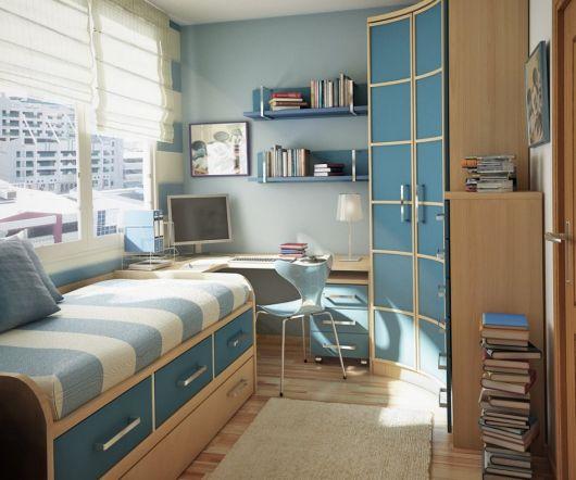 móveis azul