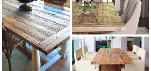 Conheça vários modelos de mesas de jantar rústicas!