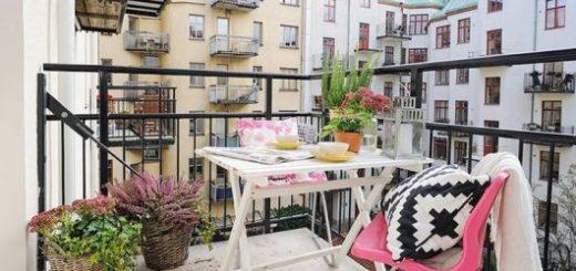 mesas para varanda pequena branca