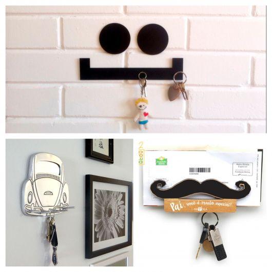 Embora você encontre muitos modelos nas lojas, é possível customizar seu próprio porta-chaves