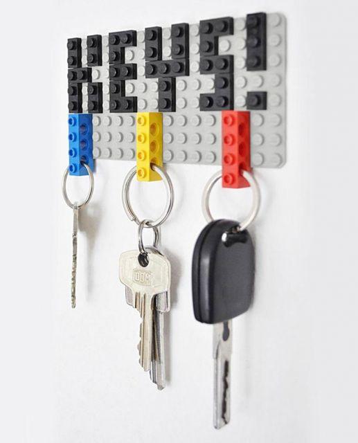 Porta-chaves inspirado no game Tetris