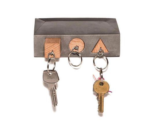 Para quem gosta de modelos geométricos, esse porta-chaves lembra até o jogo Lego