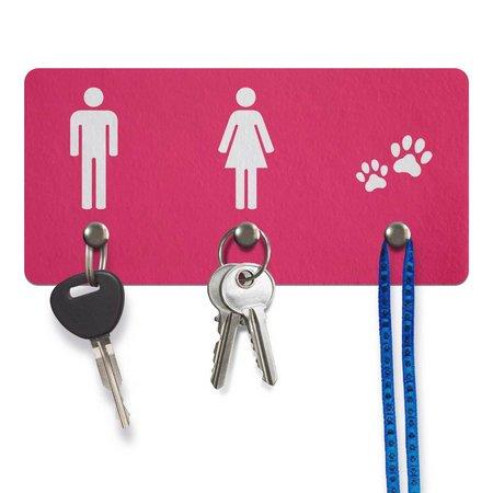 Para o homem, a mulher e o até um espacinho para a coleira do cachorro