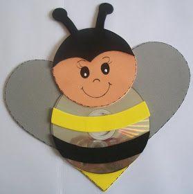 abelha com CD e EVA