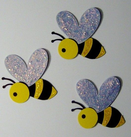 abelha simples com glitter