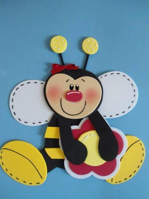 abelha simples com flor