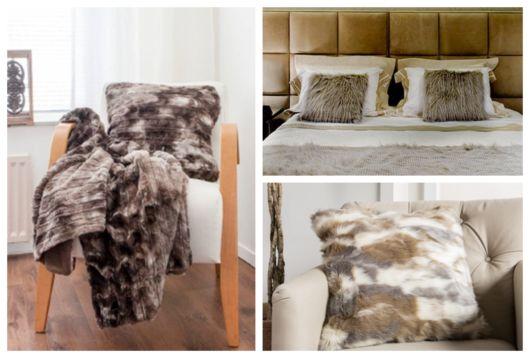As almofadas de pelo podem ser colocadas na sala ou no quarto