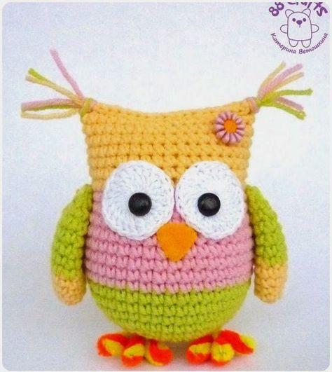 65. Tutorial Amigurumi Búho a Crochet - CTejidas [Crochet y Dos ... | 531x474