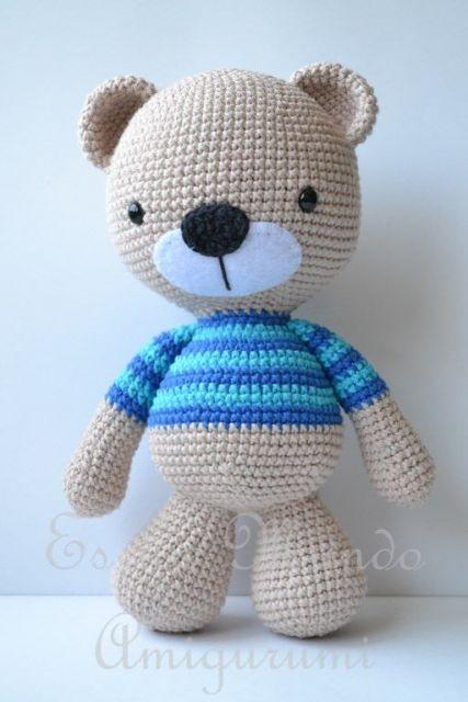 Ursinho panda com molde - Como Fazer | 640x427