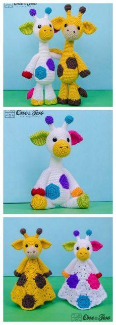 Par de jirafas de punto jirafa amigurumi hecho a mano crochet ...   640x230