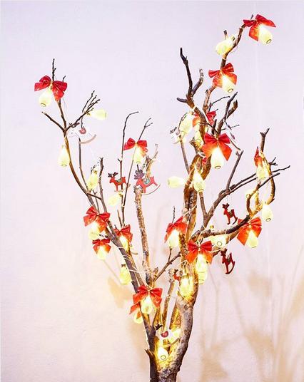 decoração de natal com laços