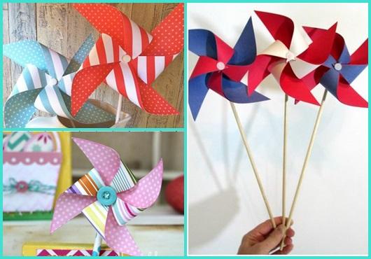 Catavento de papel modelos para se inspirar