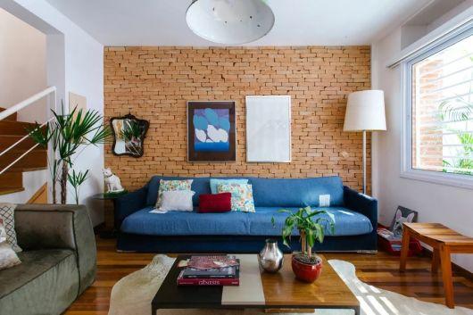 sofá de duas cores decoração