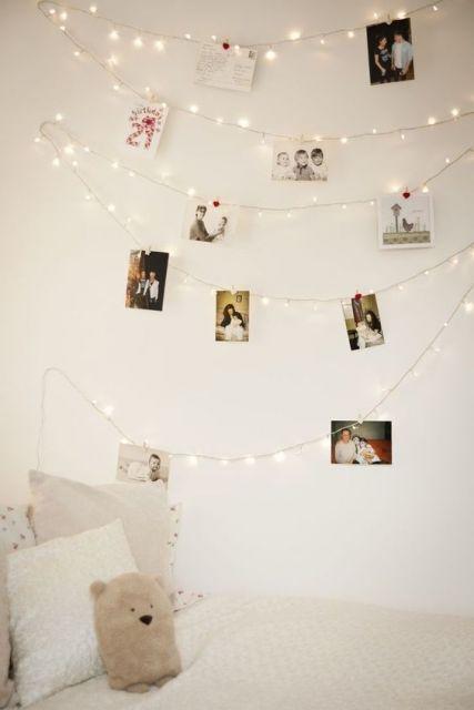 decoração com luzinhas