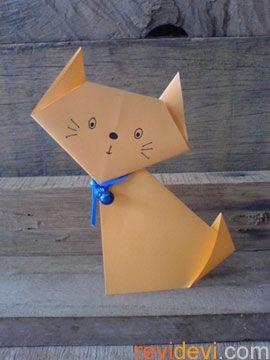 Dobraduras de animais: Gato laranja