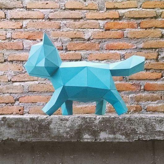 Dobraduras de animais: Gato azul