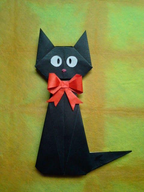 Dobraduras de animais: Gato preto