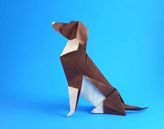 Dobraduras de animais: Cachorro marrom