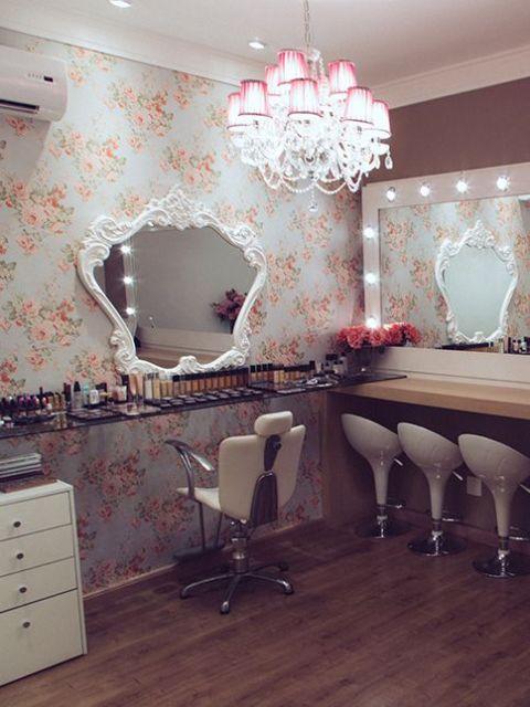 decoração com espelho provençal