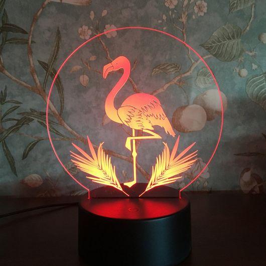 luminária moderna neon