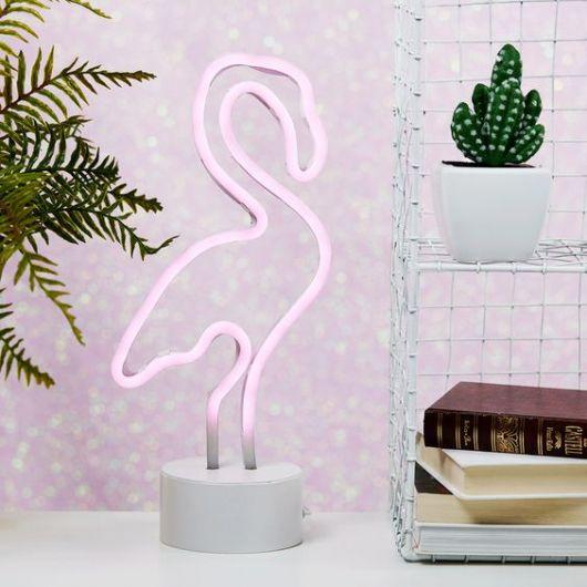 luminária rosa neon