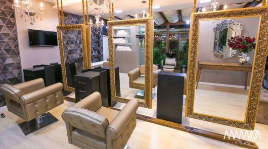 salão pequeno de luxo