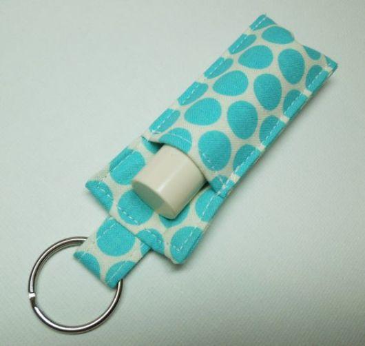Porta-batom: Em tecido azul