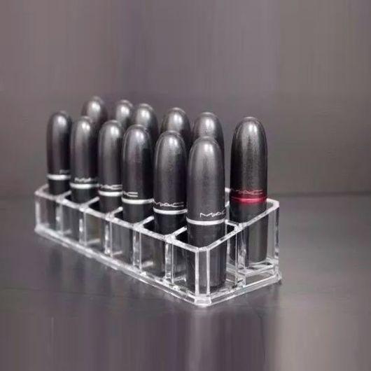 Porta-batom: Acrílico para 12 batons