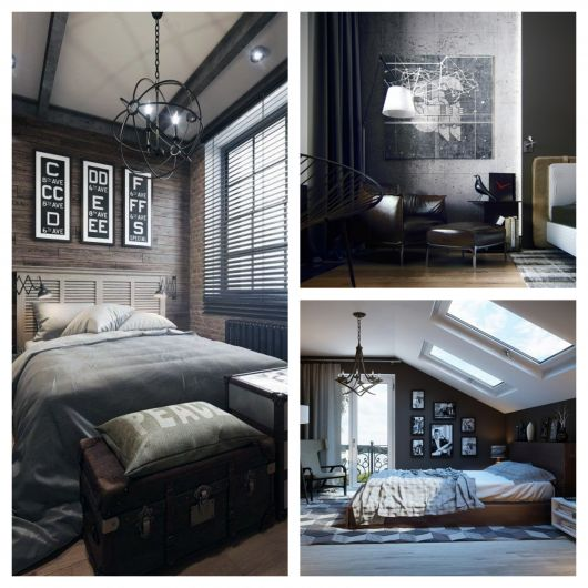 Exemplos de quadros para um quarto masculino sofisticado
