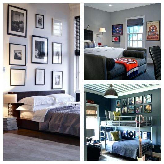 60 ideias incríveis de quadros para quarto masculino + ótimas dicas