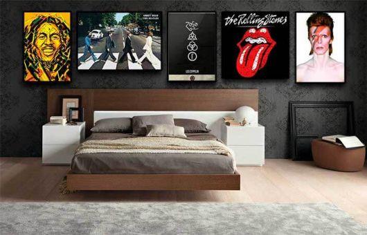 Para quem ama quadros para quarto masculino ligados à música