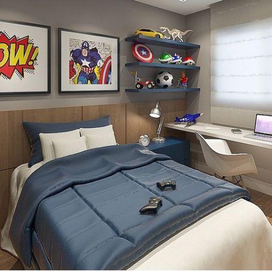 Para quem prefere uma referência descolada, ótima ideia para um quarto infantil