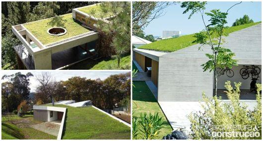 telhado de grama