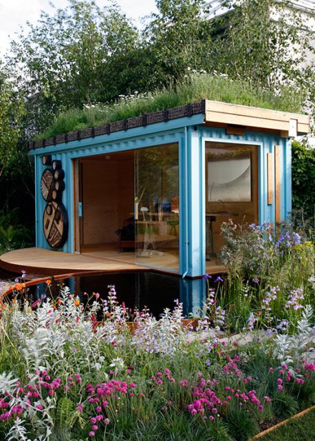 projeto container com telhado ecológico