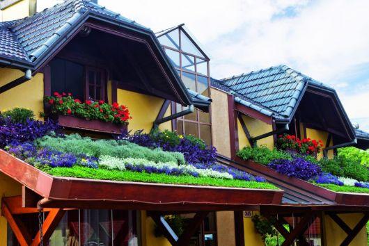 jardim florido telhado