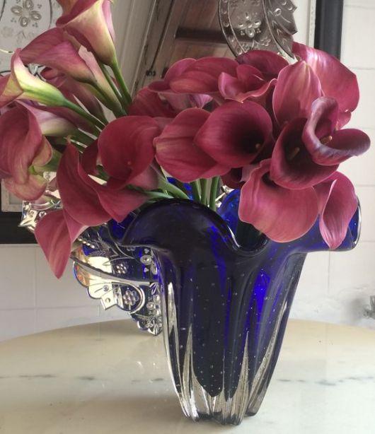 vaso azul escuro