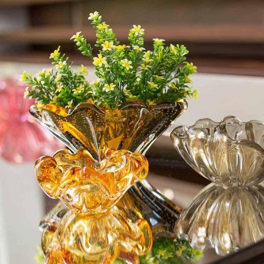 vaso âmbar decoração