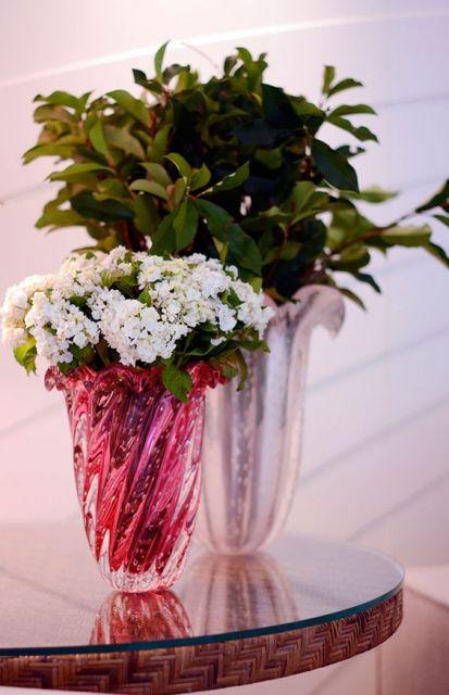 vaso rosa decoração