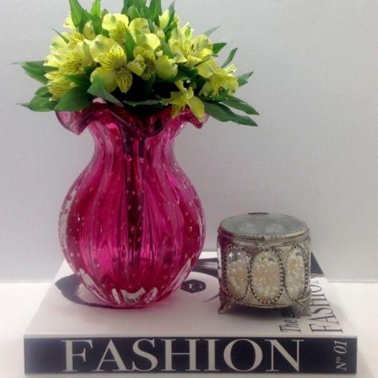 vaso pink decoração