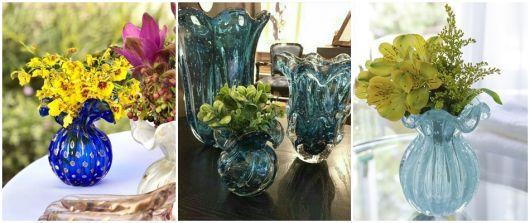 modelos de vasos azuis