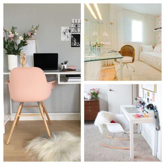 Cadeira para quartos femininos em padrões diferentes e delicados