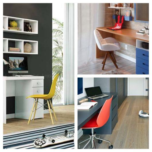 Cadeiras coloridas para quarto masculino