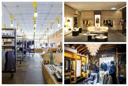 A iluminação ajuda a deixar a loja com visual mais moderno