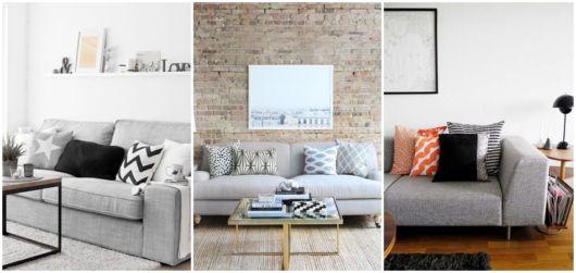 almofadas para sofá cinza