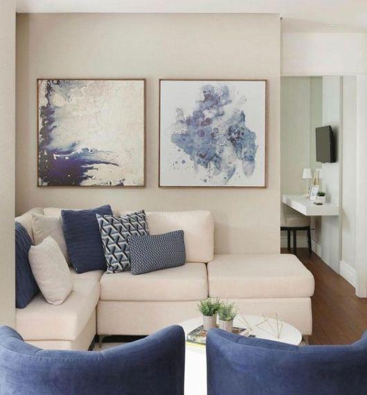 sofá branco de canto