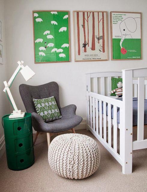 Complemente a cadeira para quarto com as cores dos outros móveis e acessórios