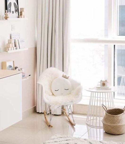 O projeto minimalista é tradicional em muitos quartos de bebê