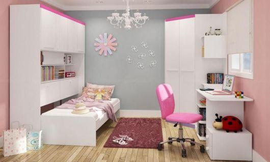 Modelo rosa para dar um toque vibrante ao quarto