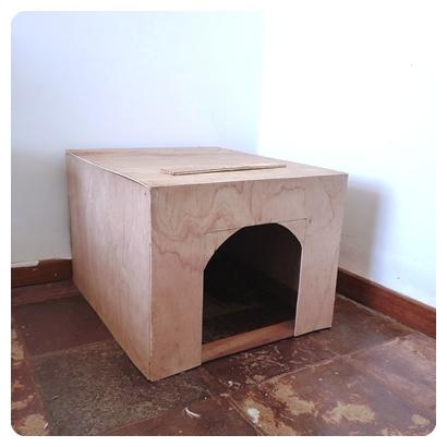 Modelo improvisado de madeira para você fazer em casa