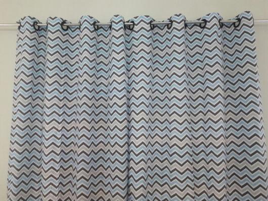 Como fazer cortina: Estampada para sala